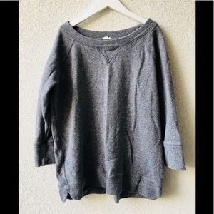 🎂 J.Crew gray cotton sweatshirt M